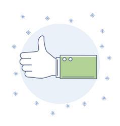 hand like symbol vector image
