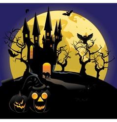 Haunted Halloween Castle2 vector image