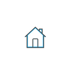 home icon design essential icon vector image