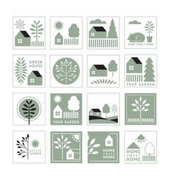 home sweet logos set vector image