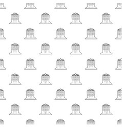 hotel five stars pattern seamless vector image