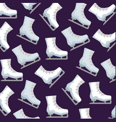 Ice skates sport pattern vector