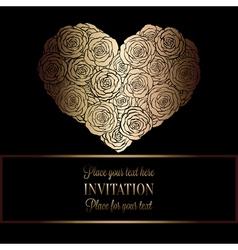 Invitation decorative golds 34 vector image