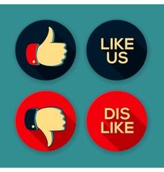 Like us and Dislike symbols vector image