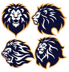 lion logo set collection premium design vector image