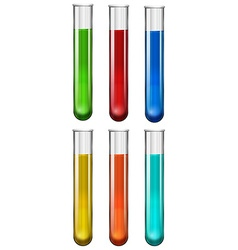 Liquid substance in glass tube vector