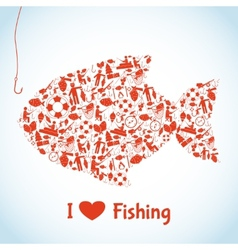 Love Fishing Concept vector