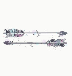 Magic bow arrows vector
