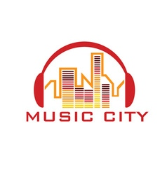 music city concept design template vector image
