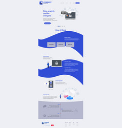 new trendy website landing page theme vector image