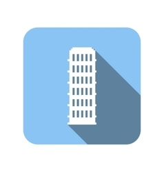 Nice house flat icon vector image