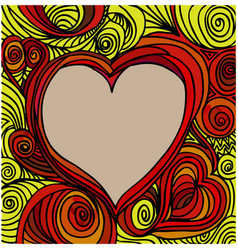 Ornate heart sketch vector