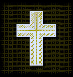 orthodox christian cross-background vector image