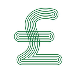 pound icon currency symbol financial vector image
