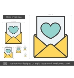 Read email line icon vector image vector image