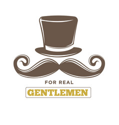 real gentlemens club isolated vintage emblem vector image