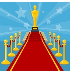 Red carpet award vector