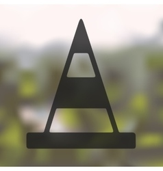 Road cones icon on blurred background vector