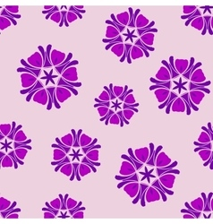Seamless background lilac boho chic vector image