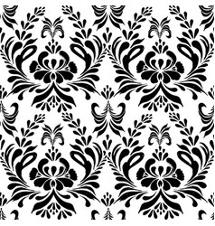 Seamless pattern with floral background vector