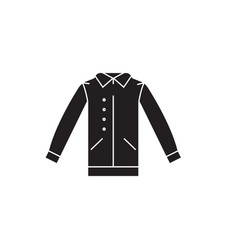 shirt with vest black concept icon shirt vector image