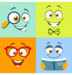 smiles cute vector image