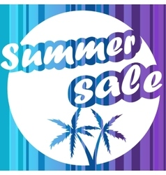 Summer sale design banner background vector image