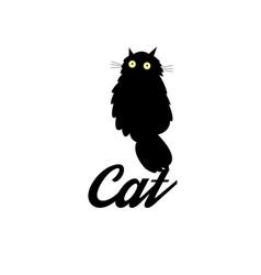 symbol a black cat vector image