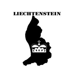 Symbol of liechtenstein and map vector