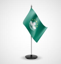 Table flag of Macau vector