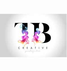 Tb vibrant creative leter logo design vector