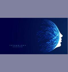Technology face concept futuristic artificial vector