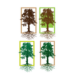 tree logo abstract design template vector image
