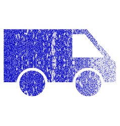 Van grunge textured icon vector
