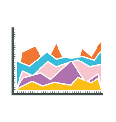 White background with statistical graphs in shape vector