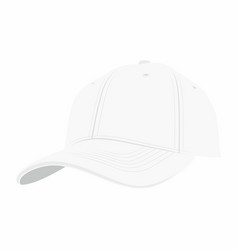 White baseball cap vector