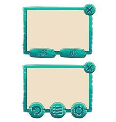Window green2 vector image