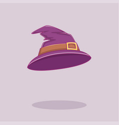witch hat for halloween poster banner invitation vector image