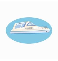 Yacht icon cartoon style vector image