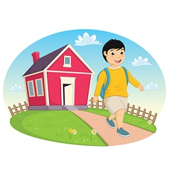 Boy Leaving Home vector image