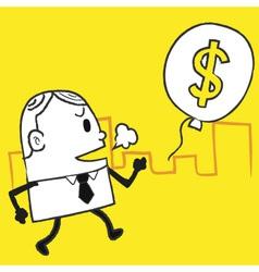 Business Man Dollar vector image vector image