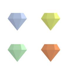 colored jewelry diamonds vector image