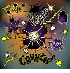 comics crash set vector image