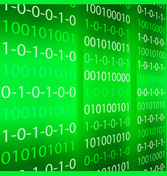 Green binary computer code repeating vector