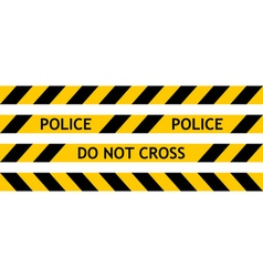 Seamless tape fencing police vector image