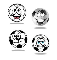 Cartoon soccer or football characters vector image