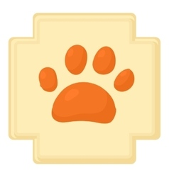 Dog paw icon cartoon style vector image vector image