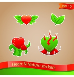 I love nature stickers vector image