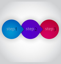 next step arrow circles design vector image