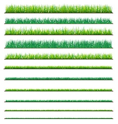 Set of Backgrounds Of Green Grass Isolated On vector image